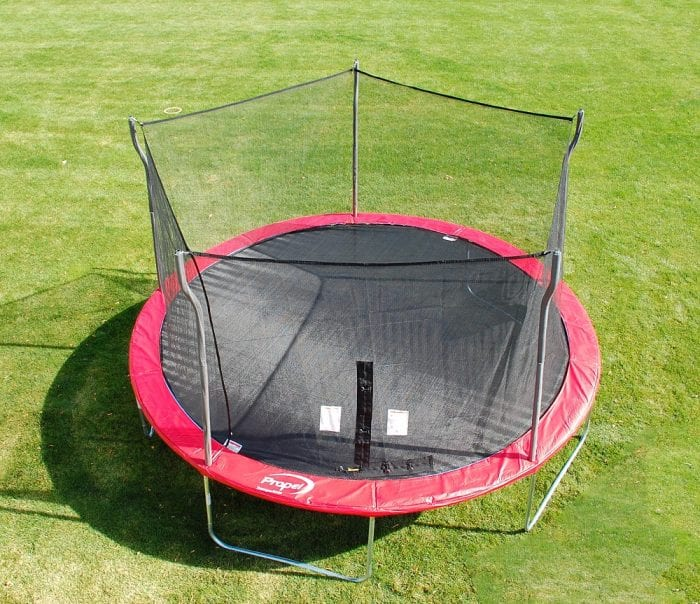 Trampoline in red and black