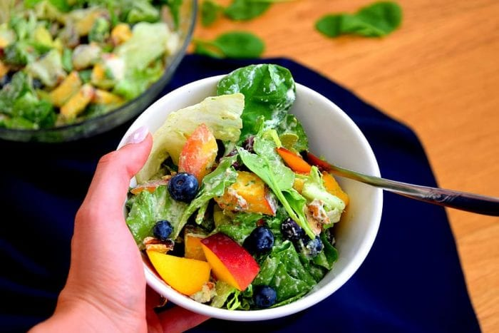 Bowl of healthy foods like vegetable salad is like taking the best vitamins. Making it a habit will keep you healthy and strong which is essential for growth of the body.