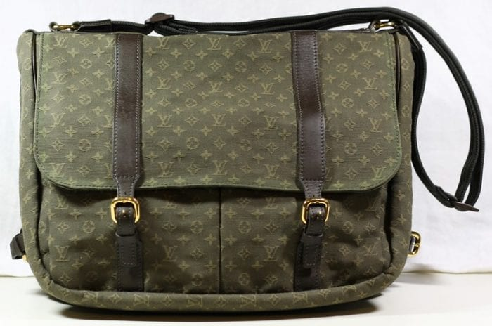 Mom's Diaper bag with leather top handle