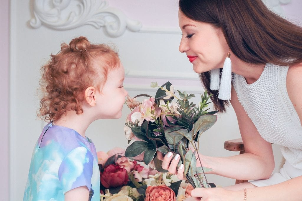 Cute mom and child.