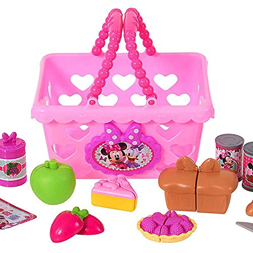 Bowtastic shopping basket with assorted toys. Do you think kids will love this more than the minnie's happy helpers bowtique cash register ?