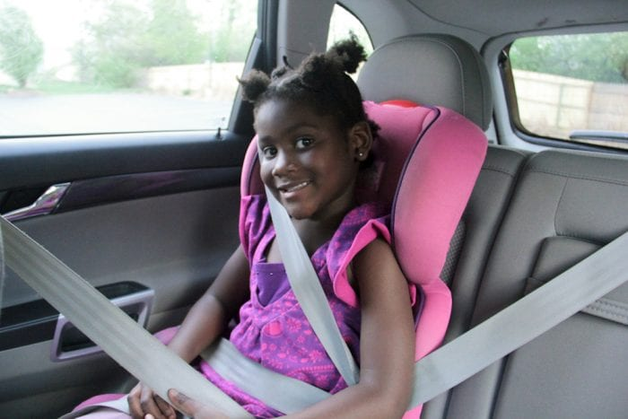 read on narrow car seats' vehicular belt positioning