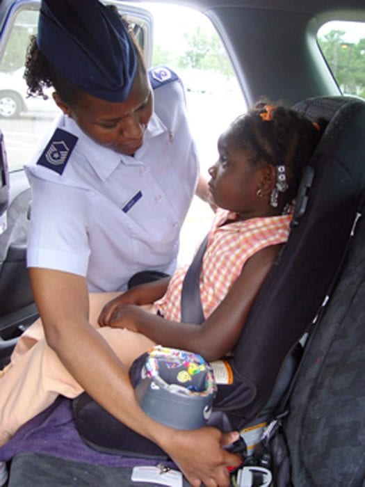 They do not have to keep moving their narrow car seat out of the way to buckle their seatbelts.