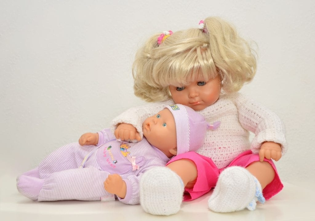 Baby Dolls: A bigger version of baby doll and a smaller baby doll. These are one of the best doll babies for kids.