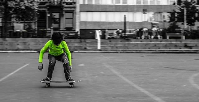 11 year old boy skateboarding