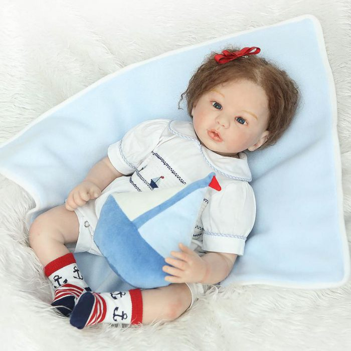 Silicone baby doll. This type of doll looks real made of silicone material and top baby doll choice for child.