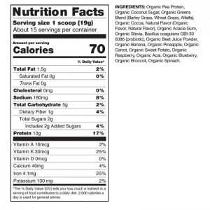 Amazing Grass nutrition facts. This is one of the best vitamins for kids made in the USA