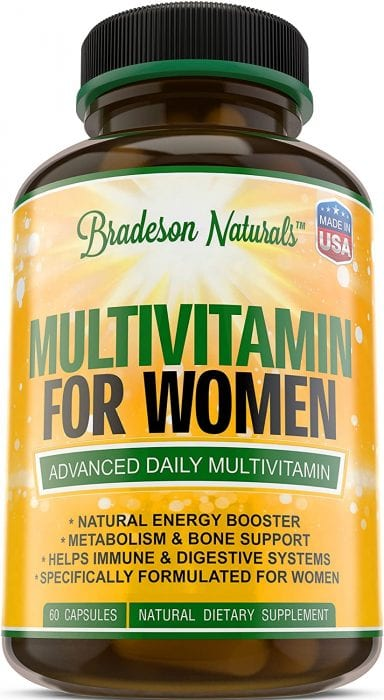 Bradeson Naturals Multivatimins for women made in USA