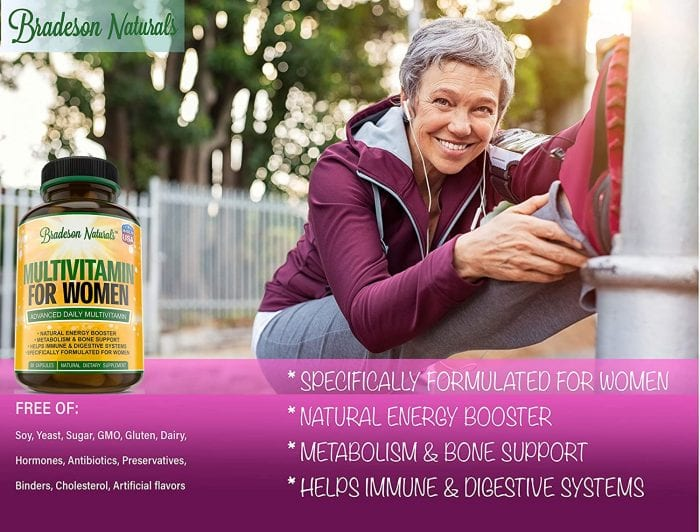 Bradeson Naturals vitamins are specifically made for women. It has natural energy booster. These vitamins are made in United States.