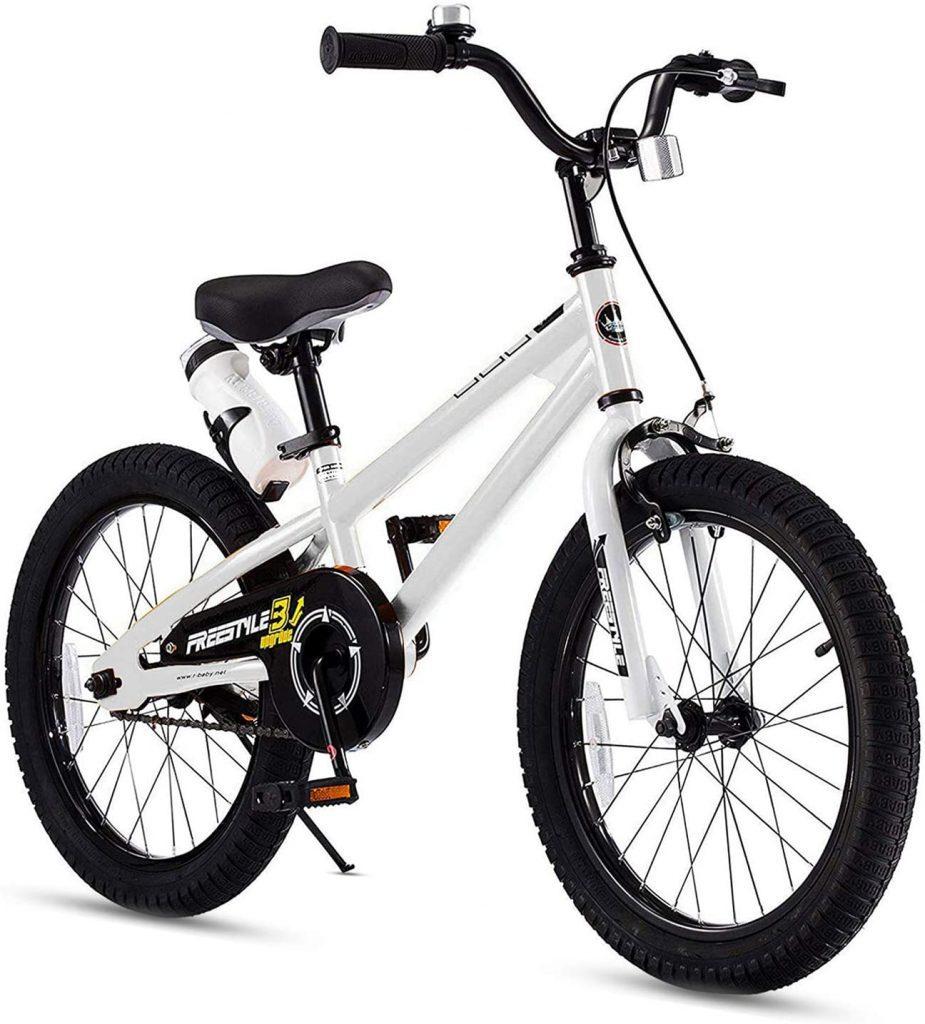 RoyalBaby Kids Bike in black and white