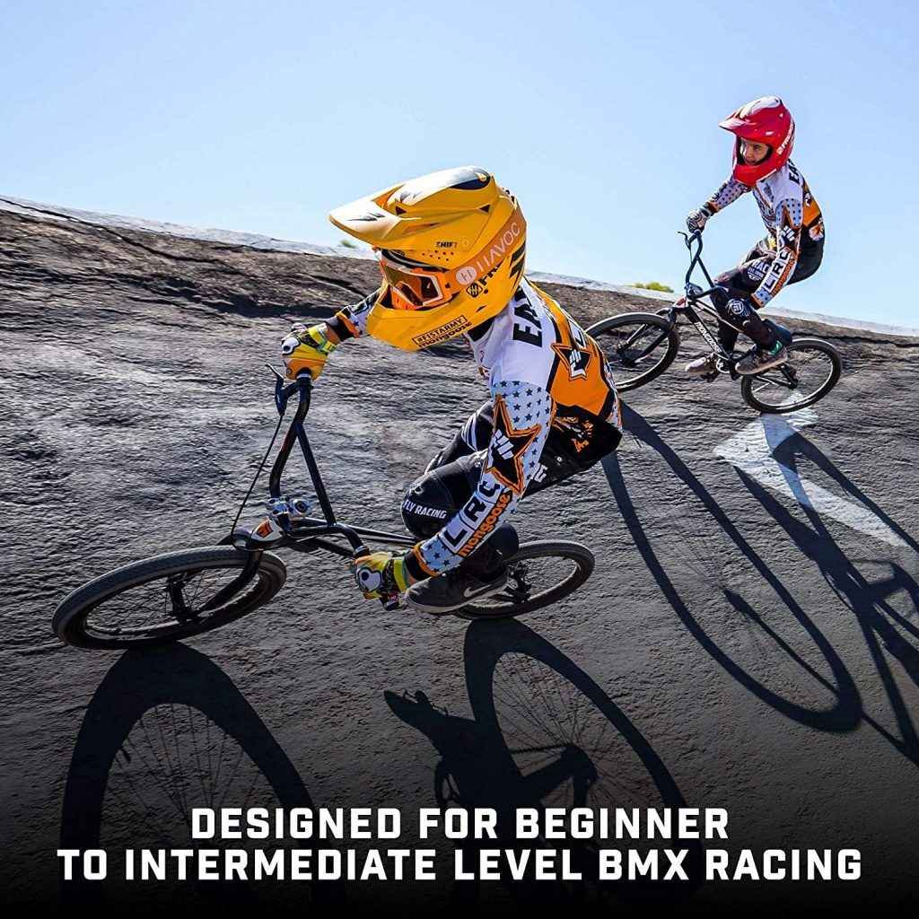 Kids riding the Mongoose Title Micro, Mini, Junior, Pro and Expert BMX Race Bike