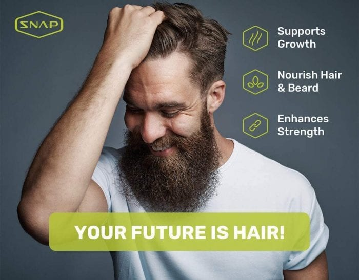 Hairtonic hair vitamins made in United States nourishes hair and beard, enhances strength and supports growth