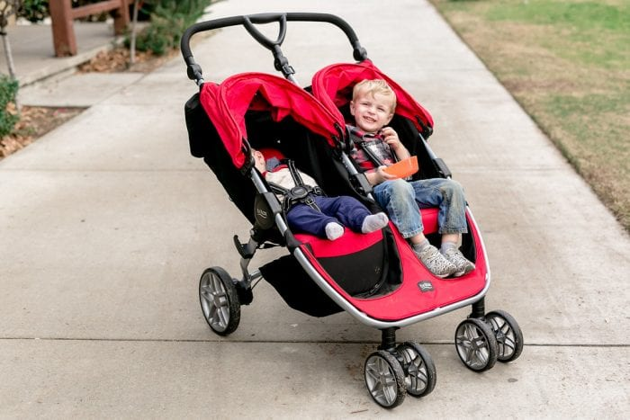 Red double strollers are suited for parents with 2 kids. Check out strollers under $100.