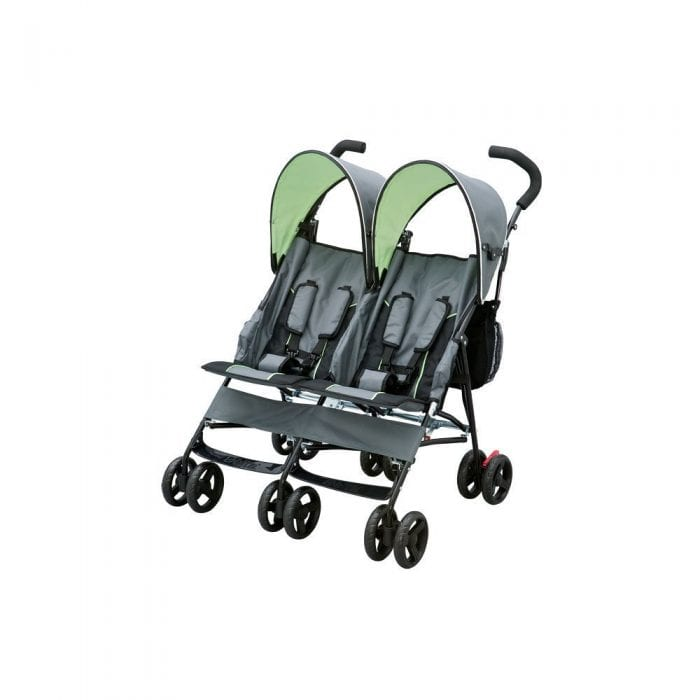 Umbrella Double Stroller by Delta. Is great for twins or 2 kids of different age. If you are looking for double stroller under $100, this could be perfect for you.