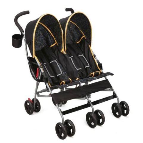 Double stroller in black color
