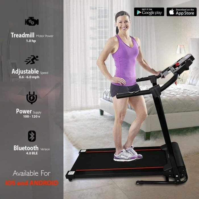 SereneLife SLFTRD18 Smart Digital Folding Treadmill. Find out more about the features of this best treadmill under 300.