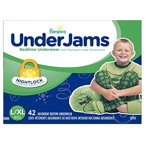 Pampers UnderJams: a bedtime underwear with protection against leak. Learn more about Under Jams here.