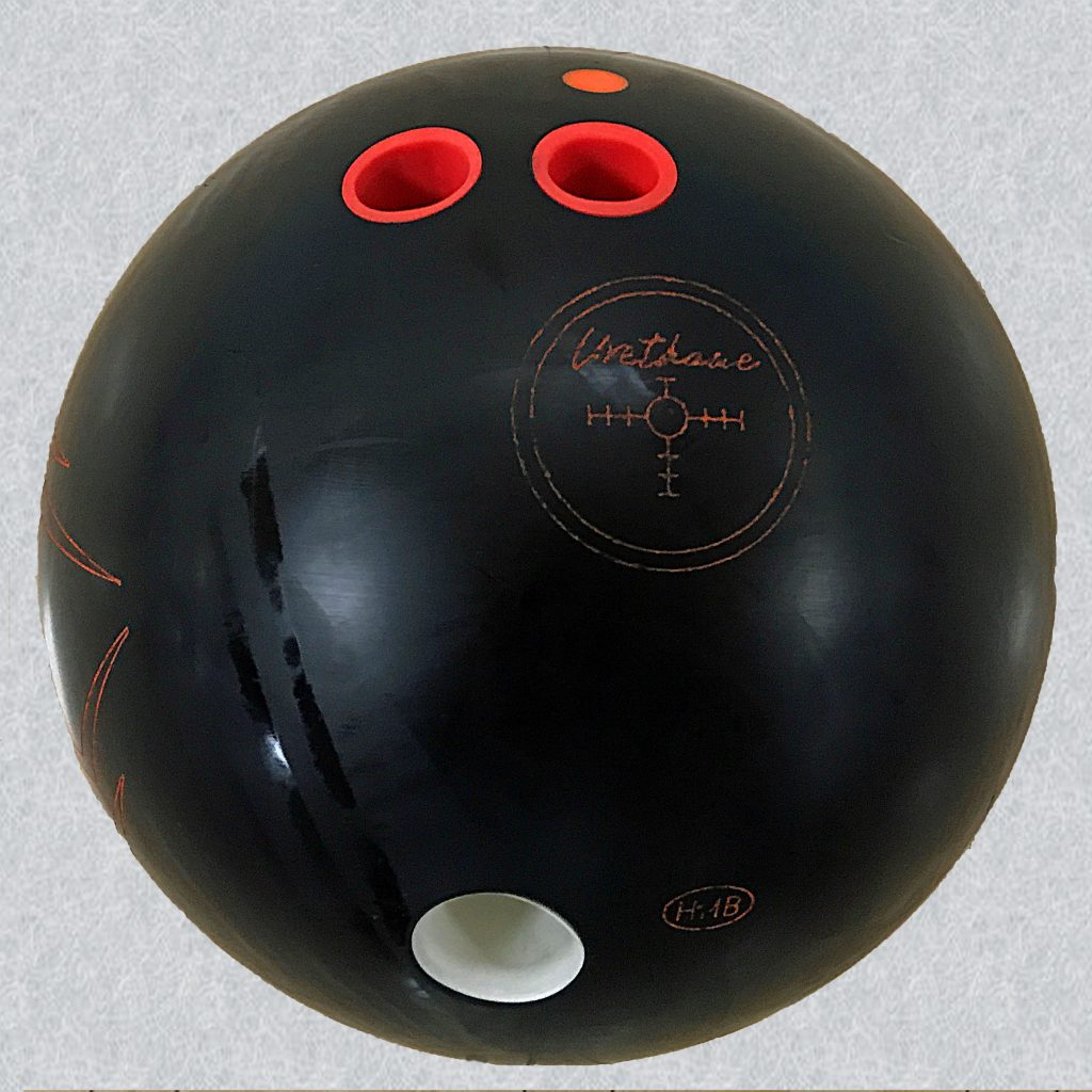 One type of bowling ball for straight bowlers