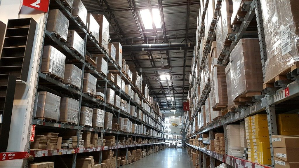 Warehouse or Storage Area. Working in a large storage area requires good warehouse shoes