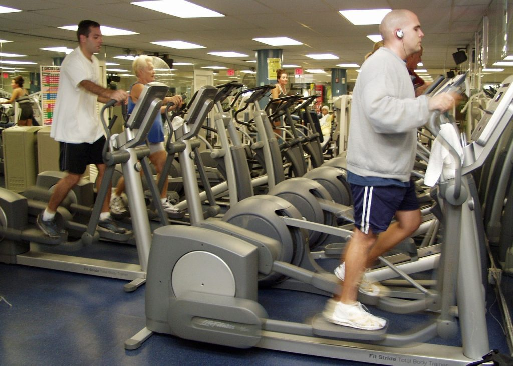 Working out on the elliptical machines