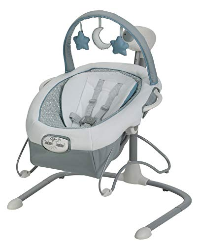 Graco Duet Connect LX Baby Swing with seat belt and toys