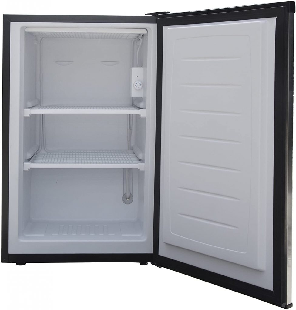 Magic Chef Upright Freezer white interior