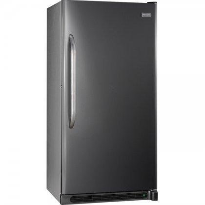 Frigidaire upright freezer in dark grey color