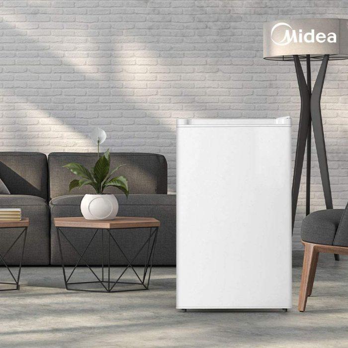 Midea WHS-109FW1 Upright Freezer, Small, White
