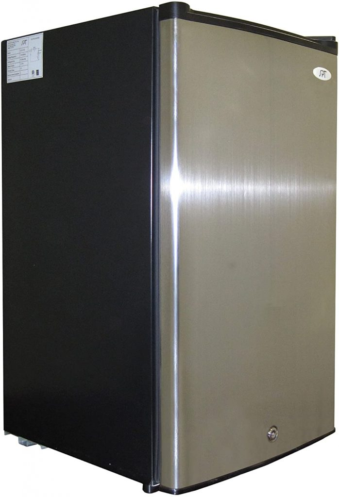 Energy Star Silver Grey Upright Freezer in Stainless Steel