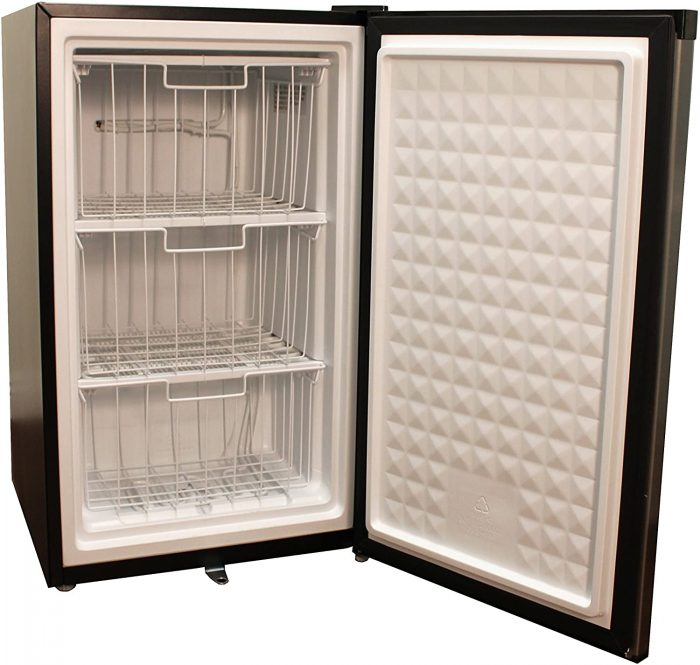 Energy Star Upright Freezer with 3 layers