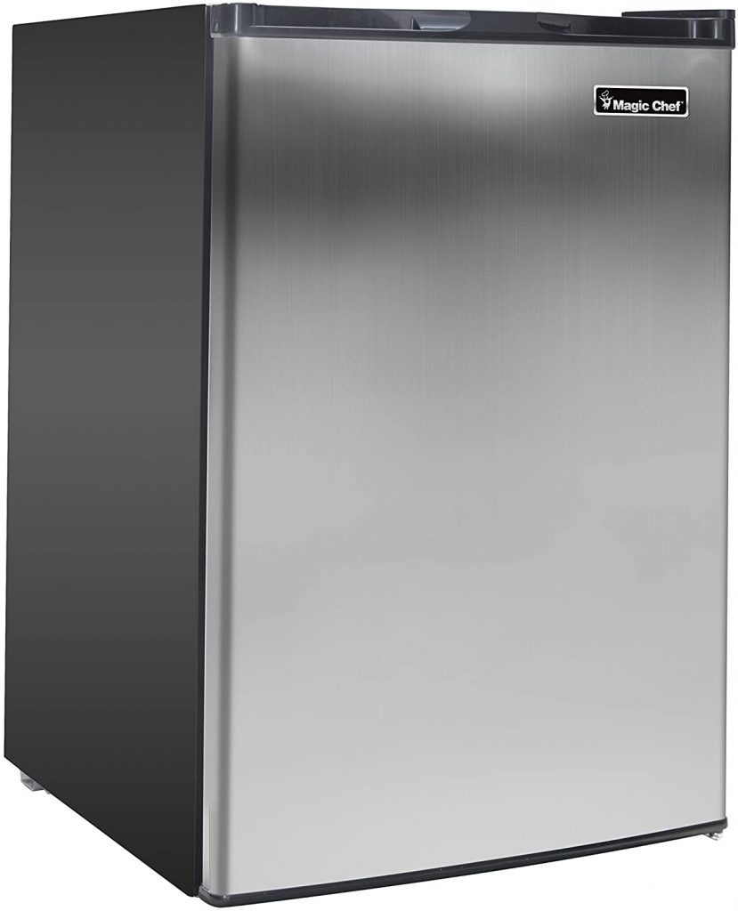 Magic Chef Stainless MCUF3S2 3.0 cu. ft. Upright Freezer in dark grey color