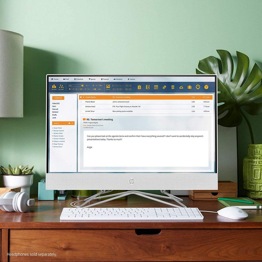 HP 24-inch all-in-one desktop computer is super lightweight