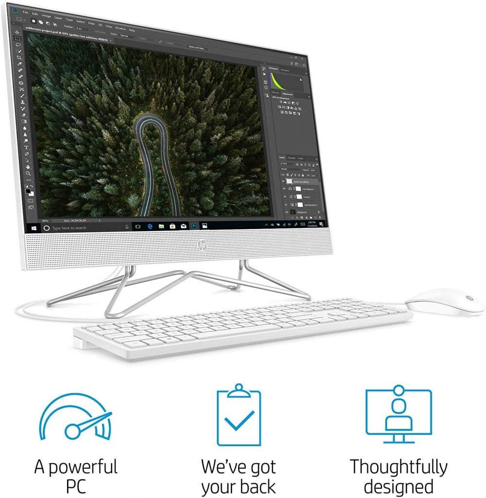 2021 Flagship 24 all-in-one computer is fast and runs smoothly. You get a lot for your money with this one. It is equipped with the AMD Athlon Silver 3050U processor and 16GB of RAM. It includes the pop-up webcam, is WiFi capable, and comes with a keyboard and mouse. You also get an iCarp HDMI cable included with your purchase.