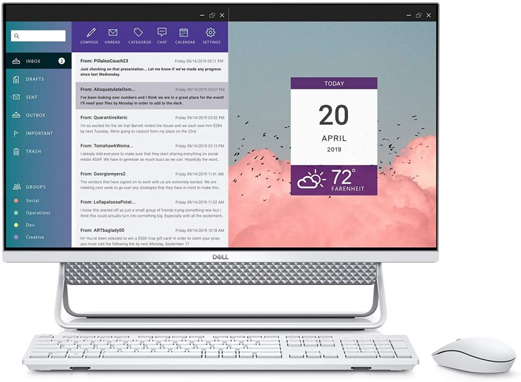 Dell Inspiron 7790-27 Inch FHD Touch all-in-one desktop computer has an Intel Core i7 processor and 16GB of RAM so you can speed through work and other tasks smoothly. There is an SSD with 512GB + 1TB more of storage space.