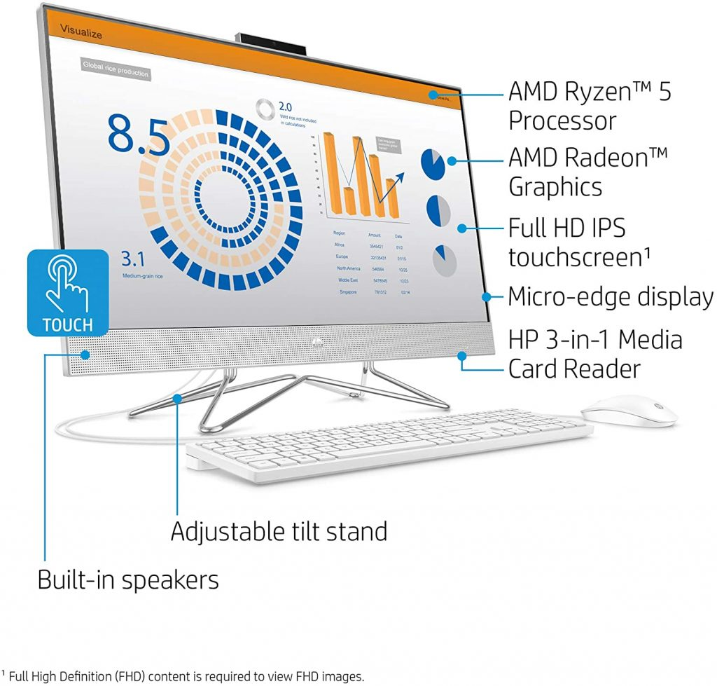 HP 27-inch Touchscreen all-in-one computer is very affordable