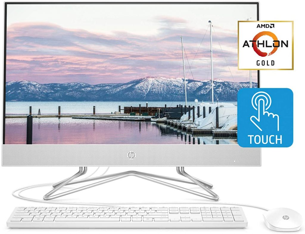 HP 24-inch all-in-one desktop computer has more budget-friendly options. Webcam only pops up while in use for privacy