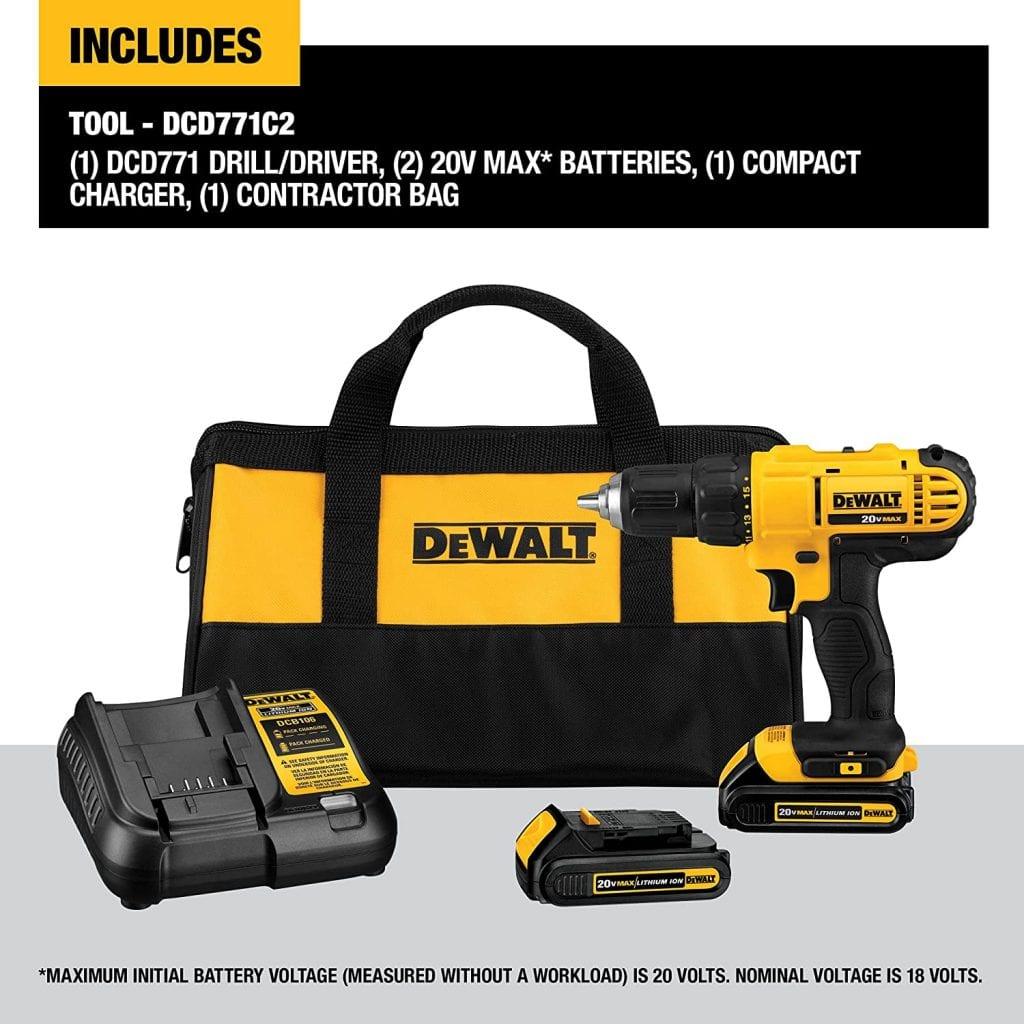 DEWALT 20V Max Cordless Drill Driver Kit (See Customer Reviews & Pricing)