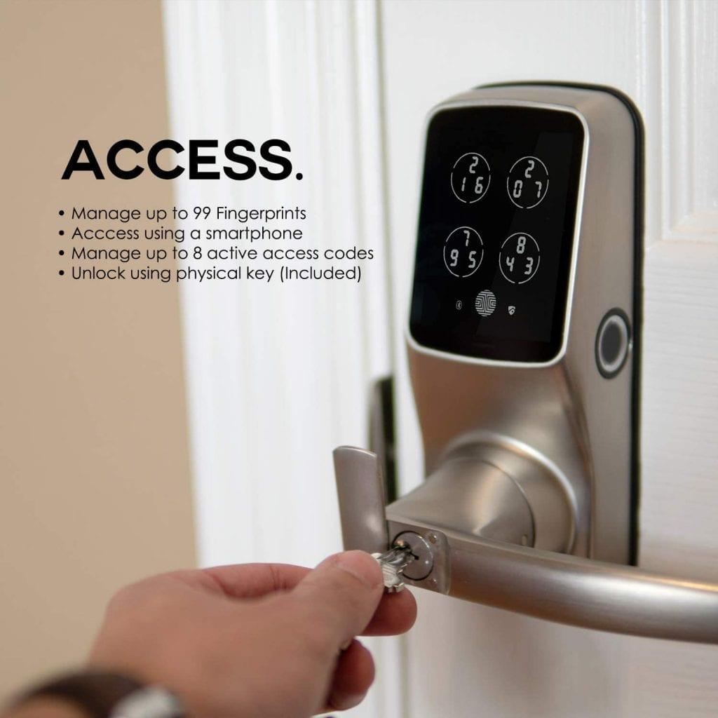 Lockly Bluetooth Keyless Fingerprint Smart Lock. Easy to install, best smart locks.