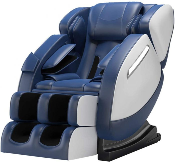 massage chair includes rollers and airbags for massage functions; chair has heat function. Massage Chair.