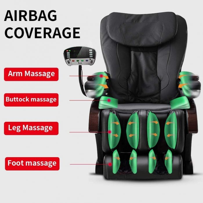 chair has airbags to improve the massage pressure. chair