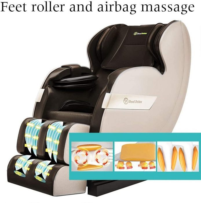 space-saving design chair for less than $1,000. chair reclines into zero-gravity position. massage chair